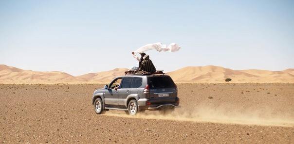 off-road in sahara