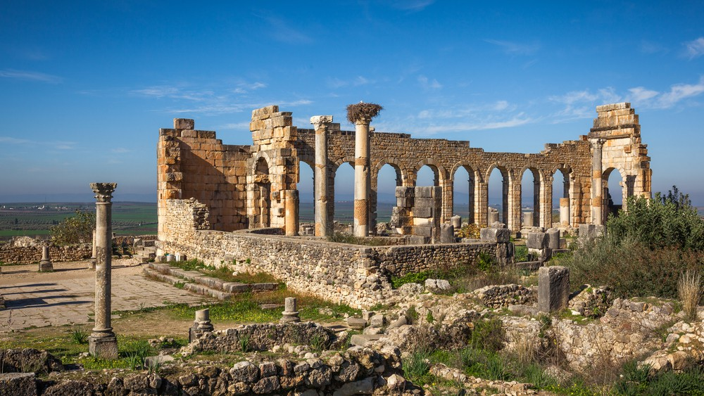Volubilis Roman site in Morocco